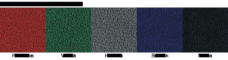Ergonea satulatuolien kangas värit