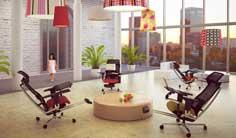 Ergonominen työtuoli työpiste mPosition julkistiloissa, hyvät ergonomiset työtuolit julkisiin tiloihin